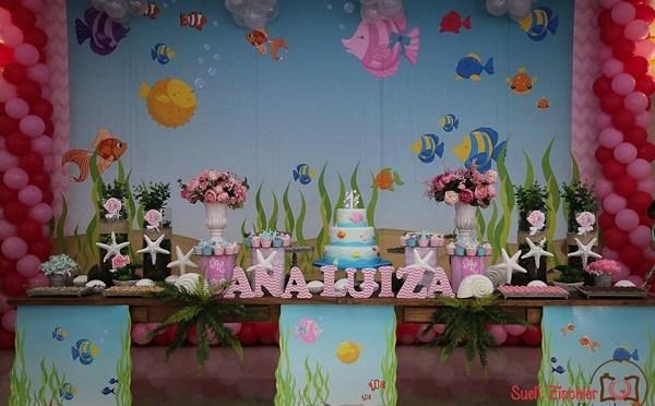 Festa infantil do fundo do mar