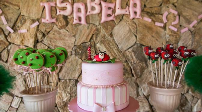 Festa rosa para menina no tema Joaninha
