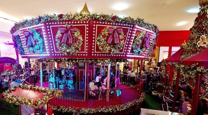 Decorações de Natal nos shoppings