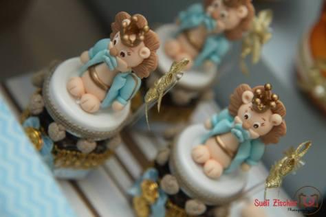 Pote de vidro com brigadeiro de Nutella para festa no tema Leão Rei