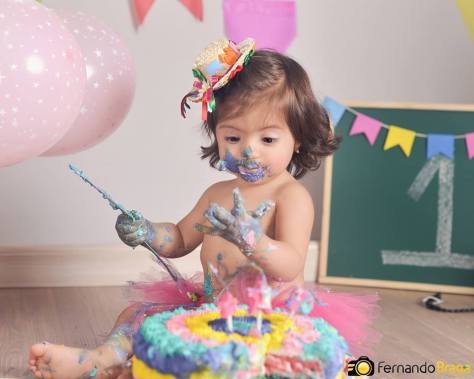 Ensaio fotográfico para 1 ano. Foto: Fernando Braga Fotografia