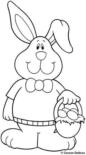 Desenho de coelho para colorir na Páscoa