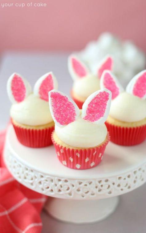 Cupcake de coelho para a Páscoa
