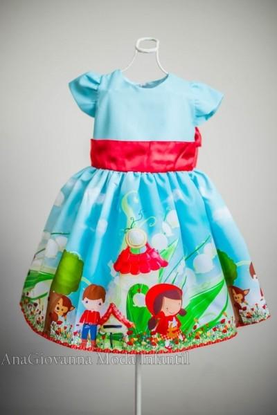 Vestidos infantis de festa Chapeuzinho Vermelho
