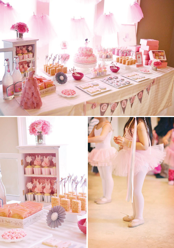 pink-ballerina-dessert-table