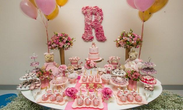 Festa Infantil: Ursinha Princesa Dourada