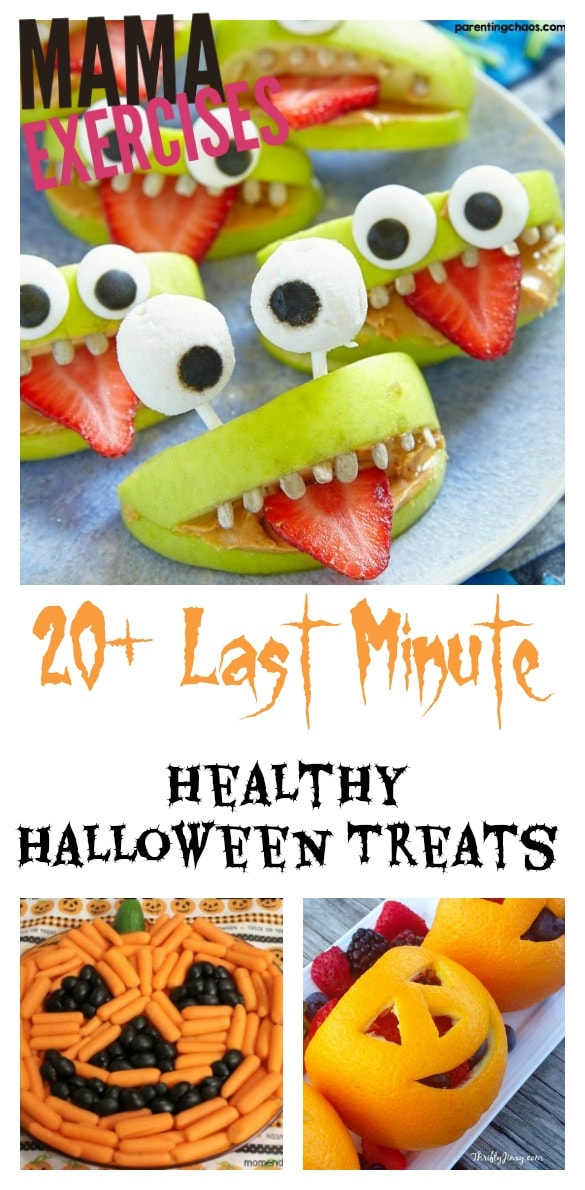20 Last Minute Healthy Halloween Treats - MamaExercises.com