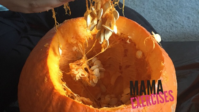 How to Roast Pumpkin Seeds - Gotta remove those innards! -MamaExercises.com