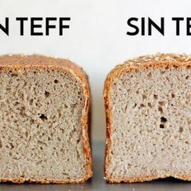 Harina de tef en el pan sin gluten