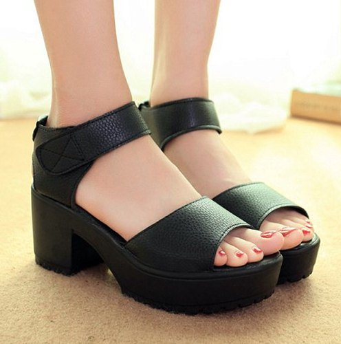 Simple Platform and Solid Color Design Sandals For Women