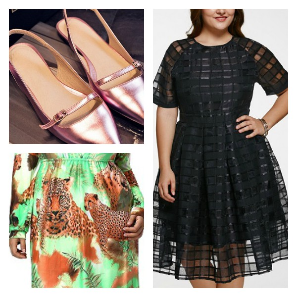 Plus size dresses and shoes