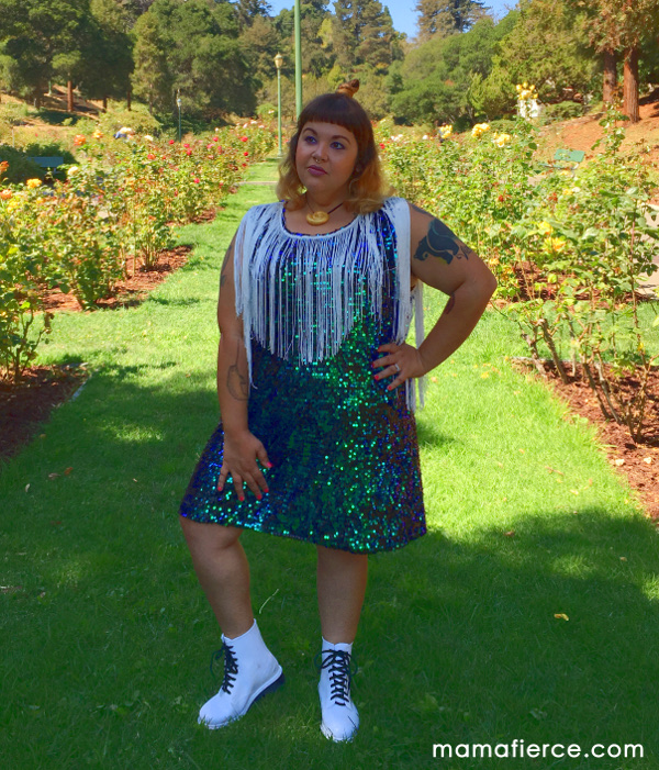 Nextmia sequin fringe plus size shift dress