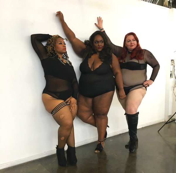 #fatandfree plus model Saucye West