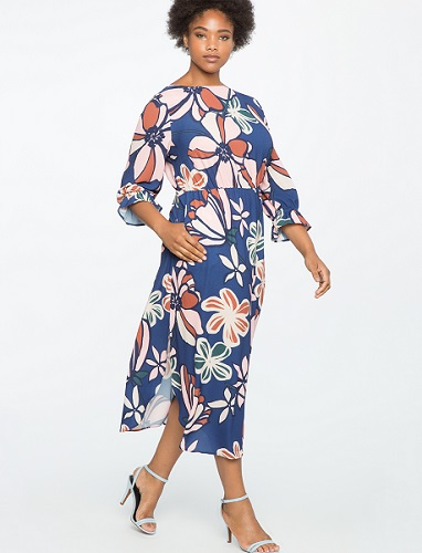 Printed Full Sleeve Maxi Dress