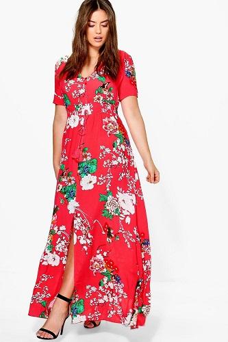 Plus Isla Floral Print Maxi Dress