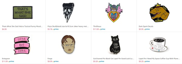 Enamel pins and patches pop culture