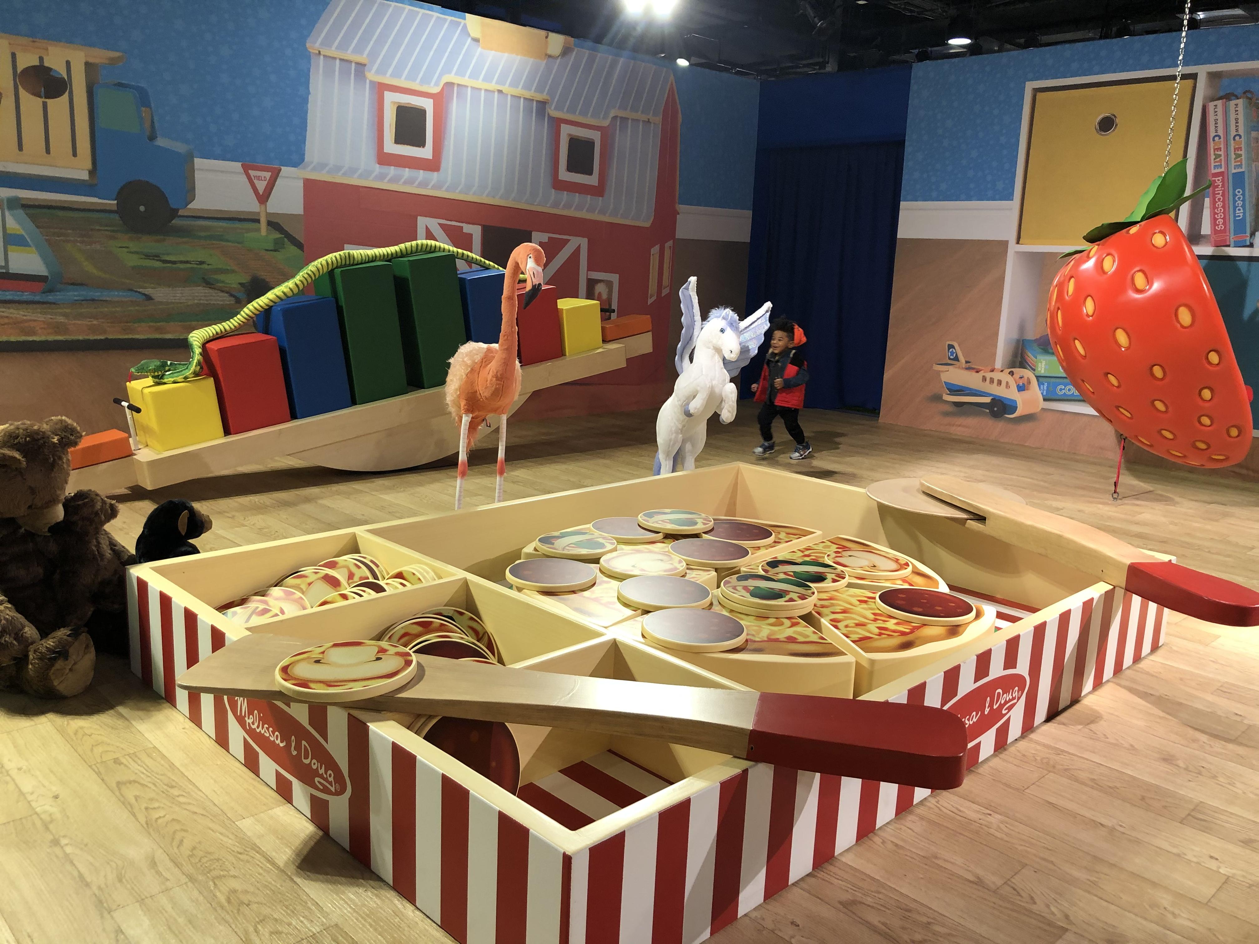 Melissa & Doug room at Toys R Us Adventure