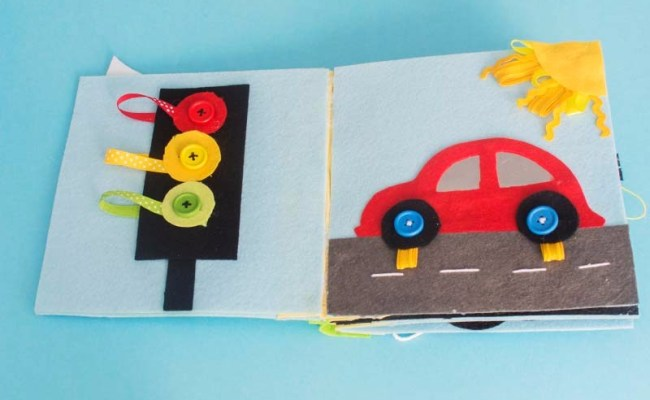 All About Travel Quiet Book Car And Traffic Light Pages