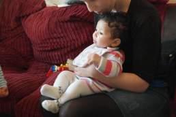 Sitting on Mummy's lap