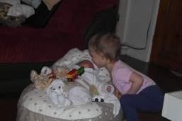Georgie giving Lydia a kiss