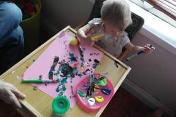 Making a lovely mess