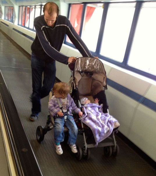 Doesn't fit on the travelator!