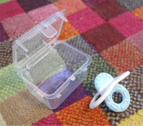 Teether with sterilising box