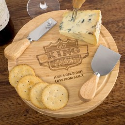 Cheese Board - Dad the King of Cheese and Biscuits (£19.99)