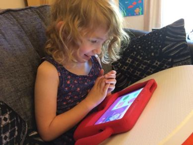 Georgie Playing the Count Me In app