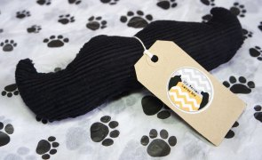 Barking Rad Box - My Person Loves Me Moustache Toy