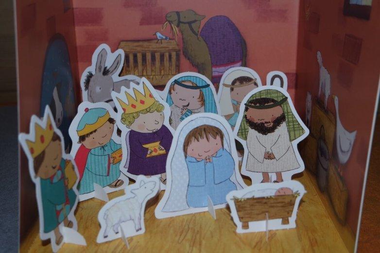 Pop out nativity story