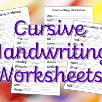 Cursive Handwriting Worksheets – Free Printable!
