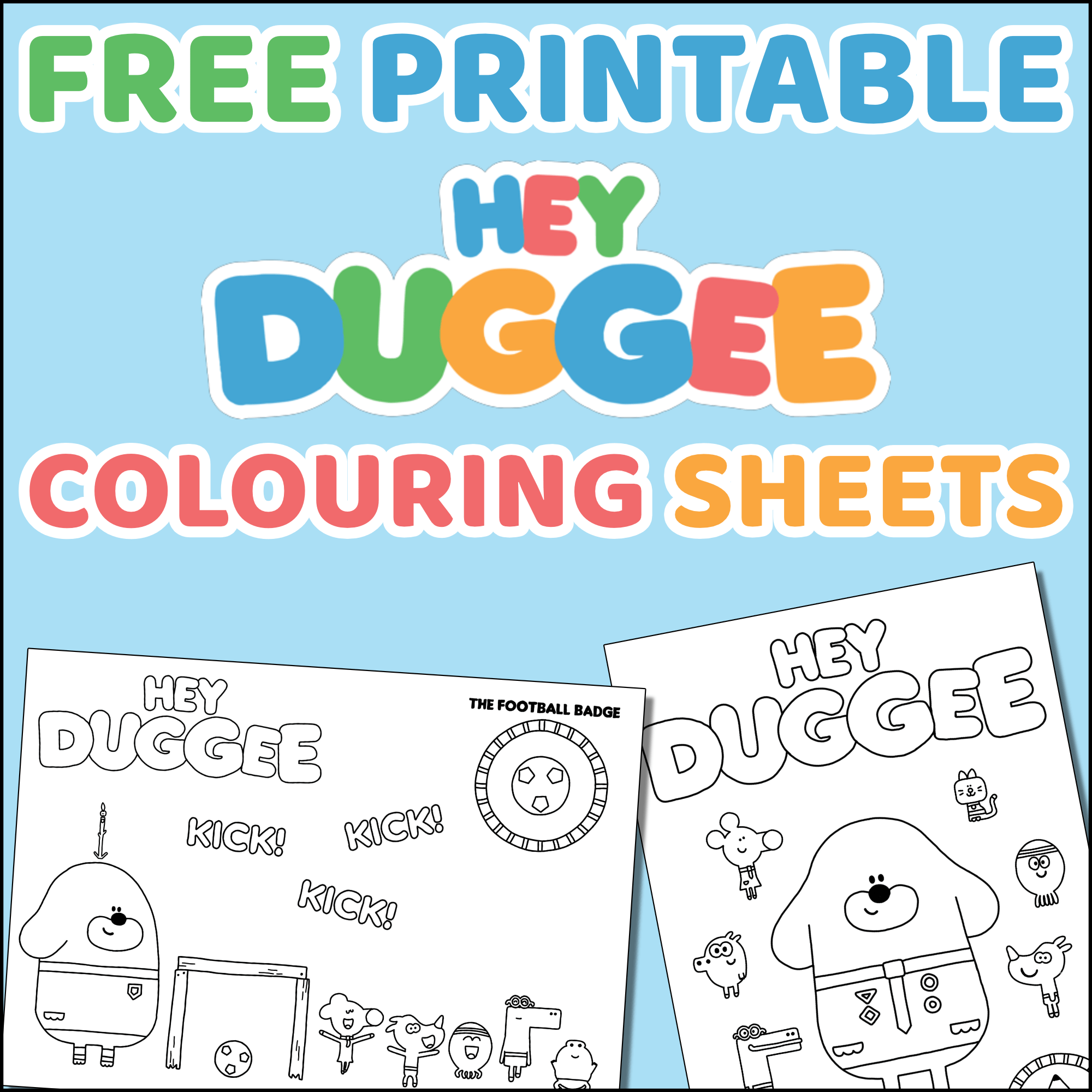 Hey Duggee Colouring Sheets Free Printable
