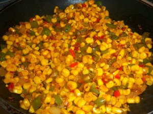 Skillet fried corn with a kick!