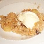 Crunchy Pear Crumble