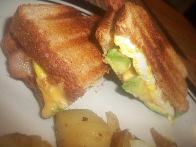 Grilled Fried Egg Sandwich with all the fixings
