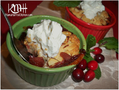 Miniature Cranberry-Pear Cobblers