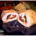 Breaded Chicken Stuffed with Provolone, Sun-Dried Tomatoes and Garlicky Spinach