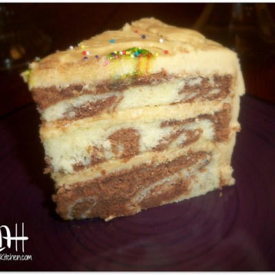 Marble Cake with Caramel Frosting