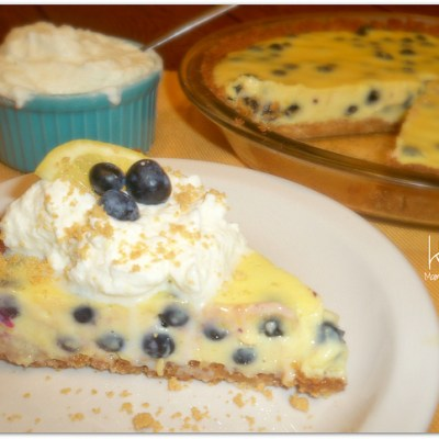 Lemon-Blueberry Pie with Ginger-Lemon Shortbread Crust, thanks to Walkers Shortbread!