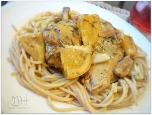 Slow-cooked Lemon-Orange Chicken in Gravy