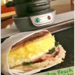 Spinach, Ham & Pepper Jack Cheese Breakfast Sandwich – plus a GIVEAWAY!