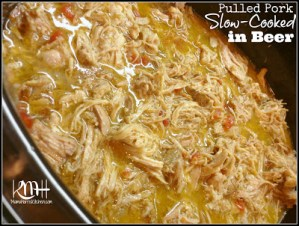 Pulled Pork Slow-Cooked in Beer