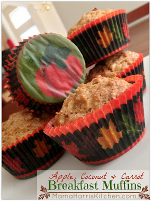 Apple, Coconut & Carrot Breakfast Muffins