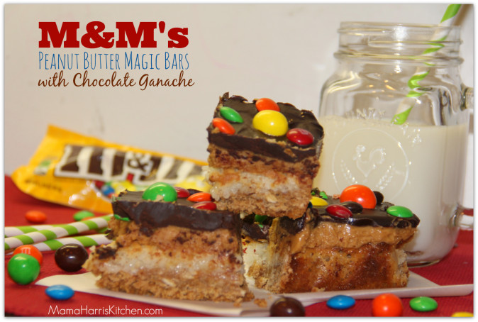 #bakingideas M and M Peanut Butter Magic Bars with Chocolate Ganache #shop #cbias 23.1