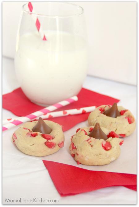Coconut Cherry Kiss Cookies