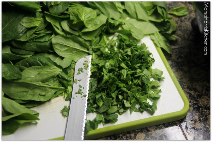 super spinach bowl - Mama Harris' Kitchen