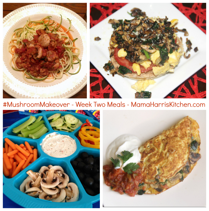 week two meals #mushroommakeover