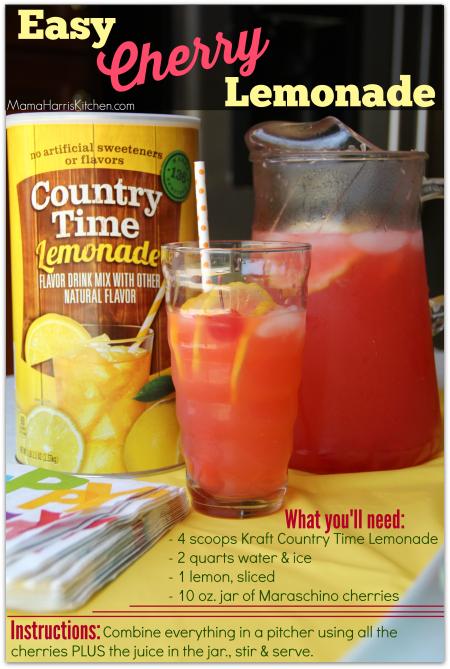 Easy Cherry Lemonade