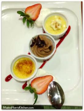 Dessert Tasting: Petite Creme Brulee | Chocolate Mousse | Key Lime Tart
